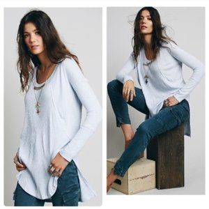 Free People Ventura Thermal sweater light blue top
